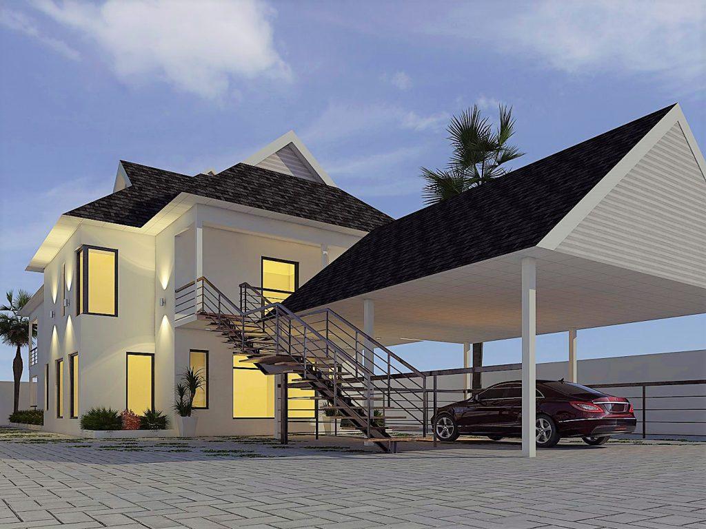 Wavell Heights House Raise Render - Designer Planning