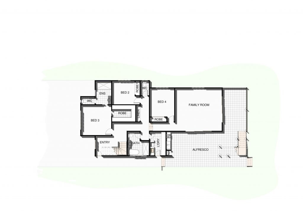 Wavell Heights lower level floor plan