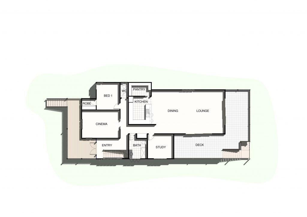 Wavell Heights upper level floor plan