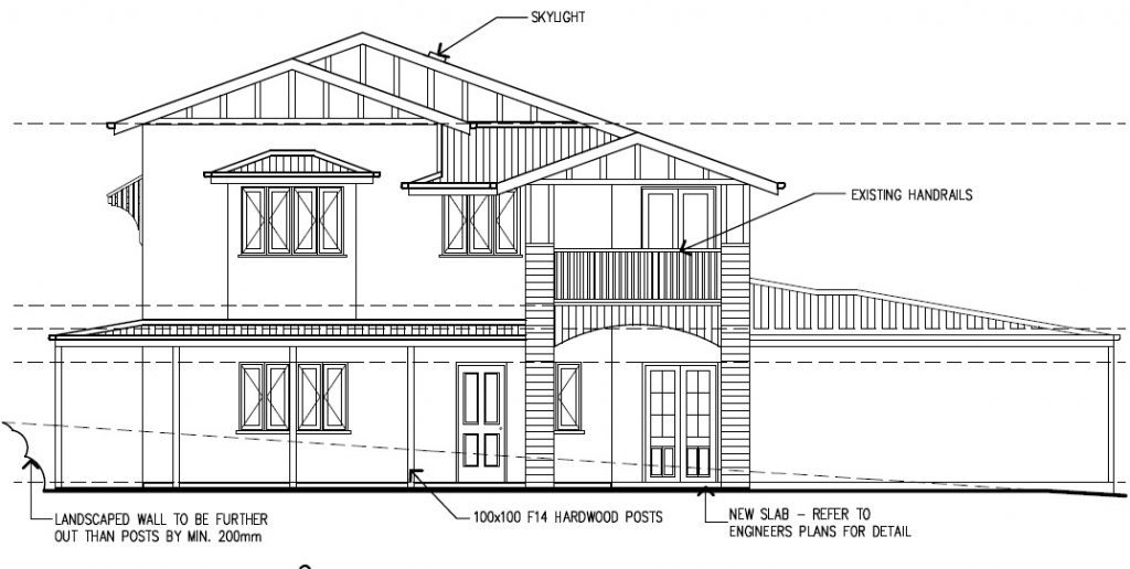 Camp Hill Elevation Drawing - Designer Planning