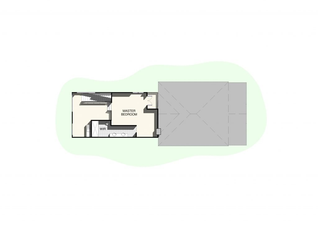 Extension Render Floor Plan Upper Level - Raise My House
