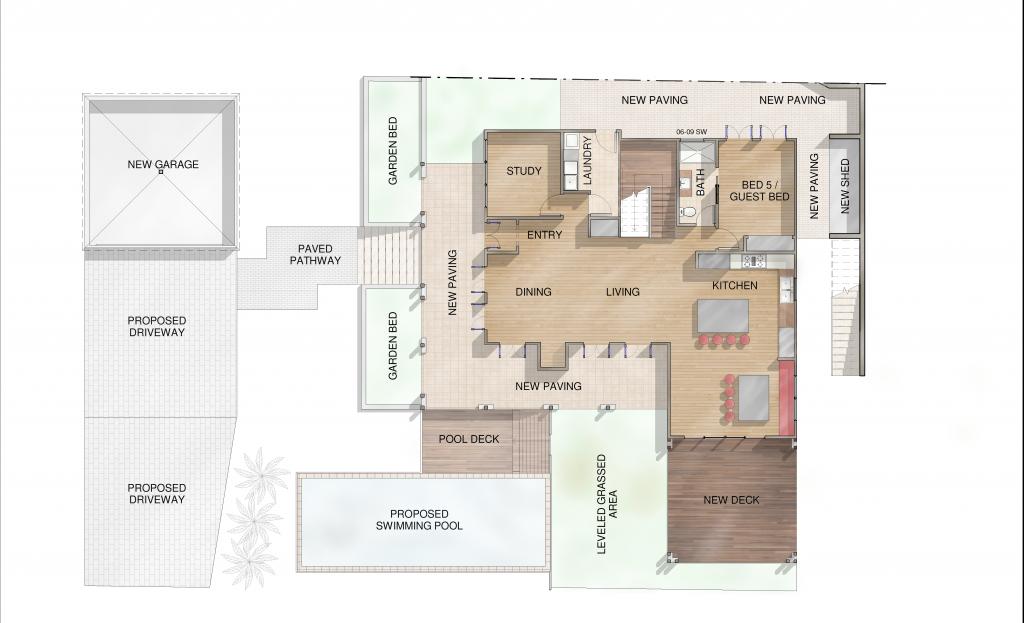 Mt Gravatt Render Lower Floor Plan