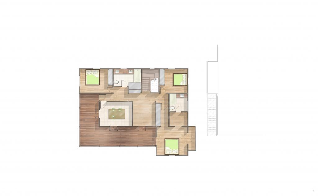 Mt Gravatt Render Floor Plan Upper Floor